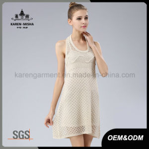 Women Halter Neck Knit Sweater Dress pictures & photos