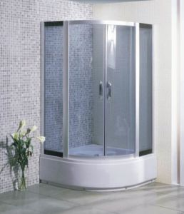 Cheap and Simple Corner Shower Enclosure High Tray Mjy-Jy-13