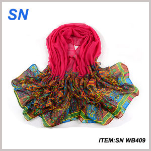 2015 China Scarf Yiwu Factory Digital Printed Shawl pictures & photos