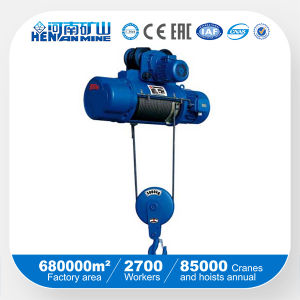 China Good Price Electric Wire Rope Remote Hoist with SGS ISO Ce Certificate pictures & photos