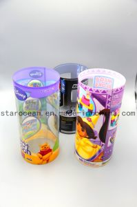 PVC Cylinder Gift Boxes for Toys with Printing pictures & photos