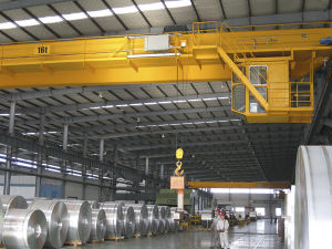 Professional Customized European Style Electric Hoist Double Beam Bridge Crane pictures & photos