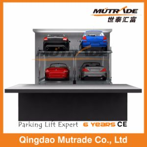 Two Post Pit Hydraulic Auto Parking System Car Lift Garage for Underground pictures & photos