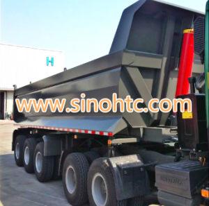 Vietnam popular 3 axles U shape dump trailer pictures & photos