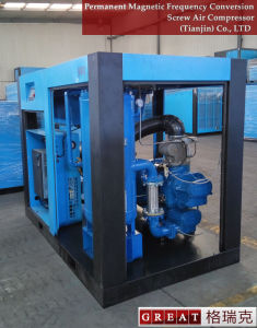 Oil Jet Two Stage Frequency Conversion Rotary Screw Air Compressor pictures & photos