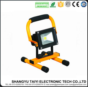 10W High Power LED Waterproof Rechargeable Floodlight pictures & photos