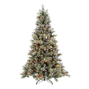 7.5FT Pre-Lit Sparkling Pine Artificial Christmas Tree with LED Lights (MY100.096.00) pictures & photos