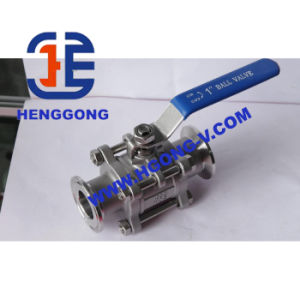 API/DIN/JIS Stainless Steel 3PC Threaded/Weld Ball Valve