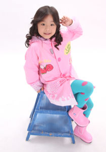 Cow Girl Waterproof Raincoat for Kids