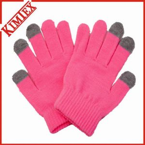 Fashion Acrylic Custom Magic Texting Knitted Gloves pictures & photos