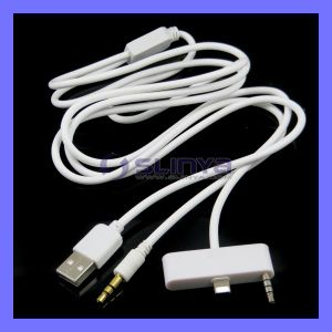 Lightning Dock to Aux 3.5mm Audio USB Cable for iPhone 5 5s 6 6 Plus iPod (SL-C11) pictures & photos