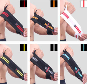 Crossfit Padded Power Weight Lifting Wrist Straps pictures & photos