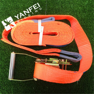 100% Polyester Orange Cargo Lashing Strap pictures & photos