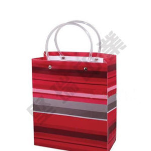 Paper/PP/PVC Packaging Plastic Bags with The Handle for Gift (we can creative design)