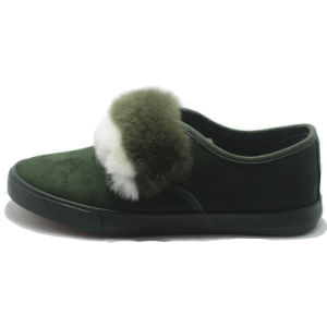 Suede Canvas Casual Women Lady Winter Shoes pictures & photos