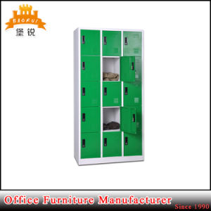 Modern Design Colorful 15 Door Nursery School Customised Metal Clothes Lockers Mini Steel Locker pictures & photos