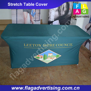 Full Color Printing Custom Stretch Table Throw/Table Cover