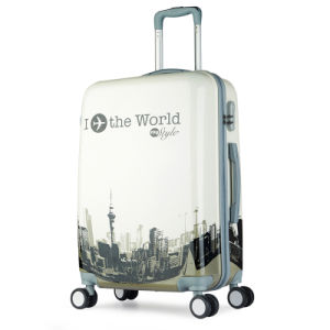 3 Pieces Set White Hard Plastic Trolley ABS+PC Suitcase Luggage