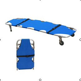 Single Foldable Emergency / Ambulance Stretcher with Two Wheels with CE and ISO pictures & photos