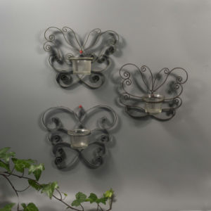 Iron Round Butterfly Candle Holder with Cups pictures & photos