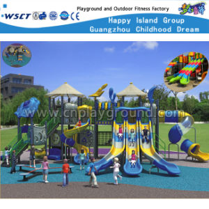 School Outdoor Playground Three Slide Kids Play Equipment HD-Kq50048A pictures & photos