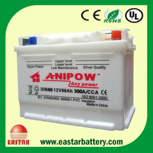 Dry Car Battery 56638 12V66ah pictures & photos