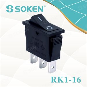 Soken Rk1-16 1X2 on on Rocker Switch pictures & photos