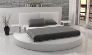 Modern Bedroom Furniture Leather Bed with Small Trays (HC038) pictures & photos