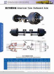 American Trailer Axle - 13t Trailer Axles pictures & photos