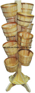 Wooden Plant Rack Flower Wood Stand Outdoor Wooden Display pictures & photos