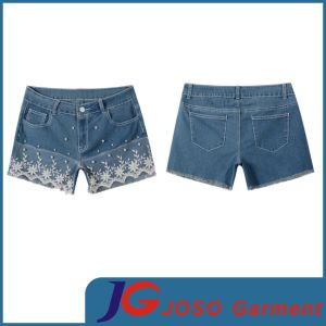 Women Plus Size Denim Jean Shorts (JC6089) pictures & photos
