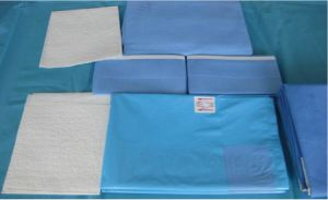 SMS Ent U-Split Nonwoven Drape Set/Surgical Split Sheet Drape Set pictures & photos