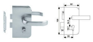 Glass Door Lock (GDL-06) with High Quanlity for Glass Door pictures & photos