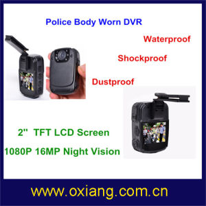 Full HD1080p Police Body Worn Camera IP56 Police Wearable Camera pictures & photos