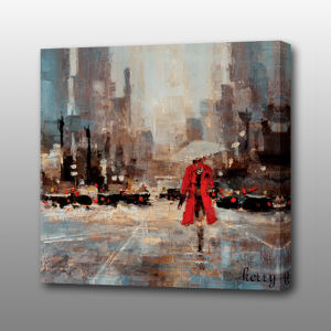 MP-529 Abstract Streetscape Popular Art Acrylic Oil Painting