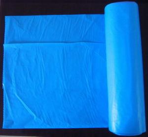 HDPE Blue Disposable C-Fold Plastic Trash Bag pictures & photos