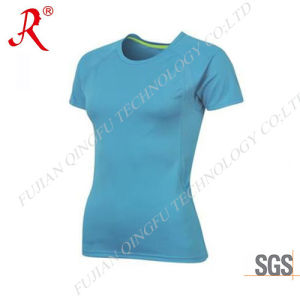 Popular and Suitable Custom Fit Sport T-Shirt for Women (QF-S174) pictures & photos