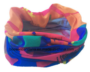 Custom Made Polyester Microfiber Elastic Customized Logo Printed Multifunctional Sports Buff Bandana Scarf pictures & photos