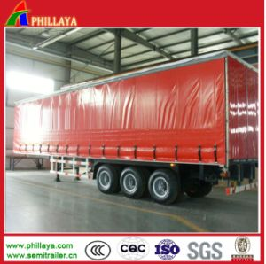 Van Cargo Box Body Truck Semi Trailer / Curtain Side Trailer pictures & photos