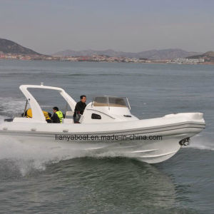 Liya 8.3m Fiberglass Hull Boat Cabin Rib Boat with Motor for Sale pictures & photos