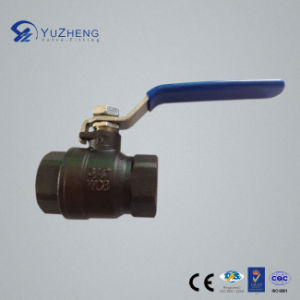 Carbon Steel 2PC Economic Ball Valve in Bsp Thread pictures & photos