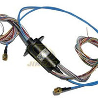 Capsule Slip Ring 24 Circuits Integrated Fiber Optic for Rotary Turret
