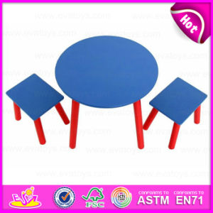 2015 New Wooden Table Set for Kids, Popular Wooden Toy Table Set for Children, High Quality Wooden Table and 2 Chairs Wo8g137 pictures & photos