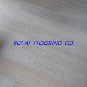 White Brushed 21/6mm European Oak Engineered Wood Flooring Tile