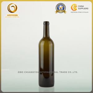 Super Quality 75cl Bordeaux Glass Bottle with Wood Cork (351) pictures & photos