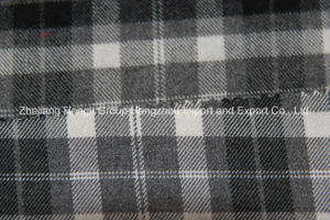 Brushed T/R Fabric, Plaid, 63% Polyester, 34% Rayon and 3% Spandex, 250GSM pictures & photos