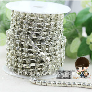 3mm Clear Crystal Cup Chain Fancy Rhinestones Chain (RCS-ss12/3mm clear) pictures & photos