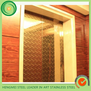 201 304 Decorative Color Etching Stainless Steel Sheet Elevator Door Cabin Parts From Construction Companies pictures & photos