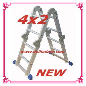 Scaffolding Ladder/Aluminum Step Multi-Purpose Ladder 4X2 pictures & photos