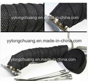 Black Fiberglass Exhaust Header Pipe Heat Insulating Wrap pictures & photos